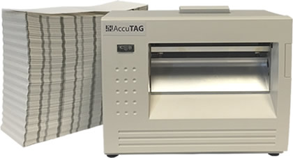 AccuTAG Printer with fanfold stock